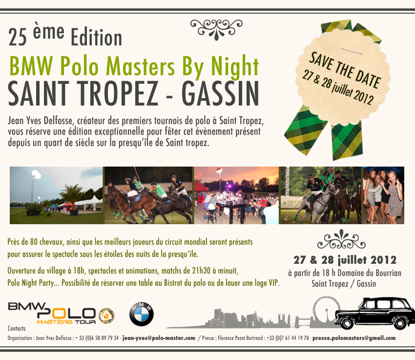 Save the Date Saint Tropez Polo !!