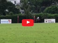 HRH Prince HARRY scores goal in Singapore Sentebale Polo Match