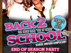Back To School Party - Tickets Now On Sale